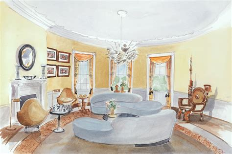 yellow oval office 5 designers white house interiors for clinton and trump