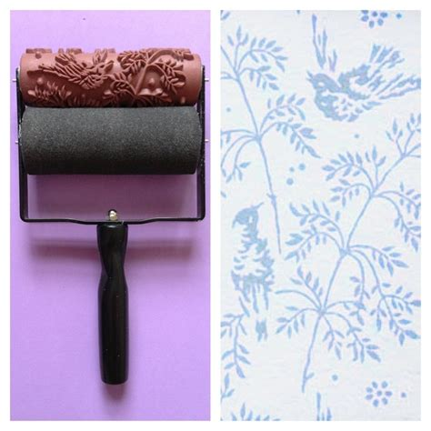 pattern roller paint malaysia spring bird patterned paint roller and applicator set
