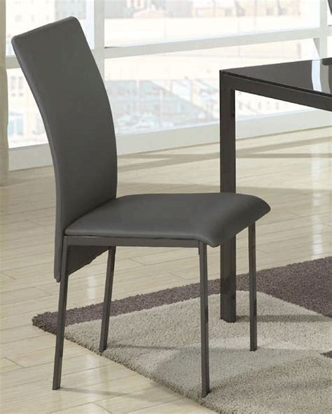 coaster contemporary vinyl dining chair co 103742 set of 2