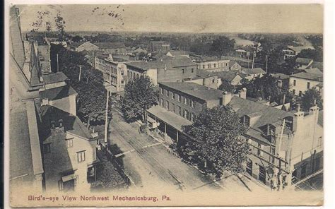 1886 history of cumberland county pennsylvania mechanicsburg pa cumberland county postcard bird s eye