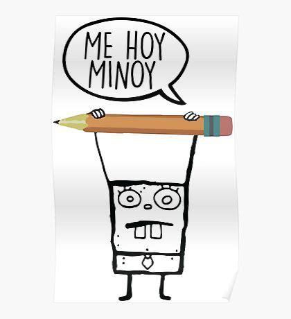 doodlebob me hoy minoy ringtone spongebob posters redbubble