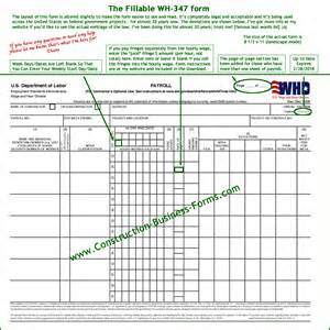 excel format wh 347 and wh 348 certified payroll form