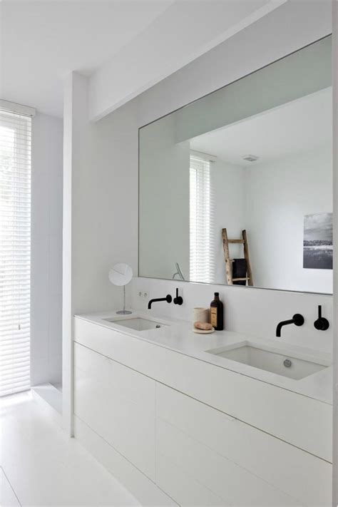 large white bathroom mirror big bathroom mirror trend in real interiors