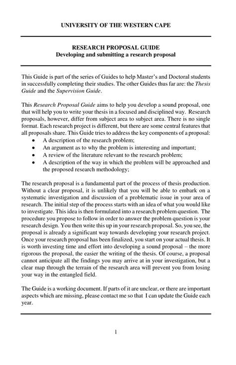 (PDF) Research Proposal Guide