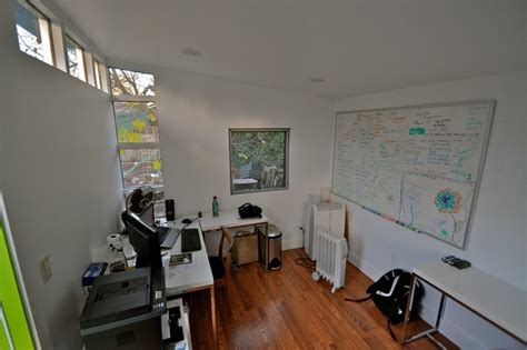 studio shed lifestyle interior home office  white