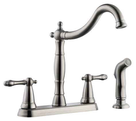 satin nickel kitchen faucets design house 523241 oakmont 2 handle kitchen faucet with side sprayer satin nickel finish