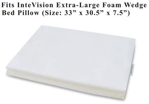 extra large foam wedge bed pillow 33 quot x 30 5 quot x 7 5 quot gentle support acid reflux ebay amazon com intevision extra large foam wedge bed pillow