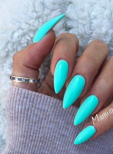 aqua acrylic nails best 25 teal acrylic nails ideas on mint