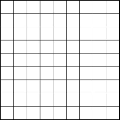 grille vierge sudoku maison design edfos