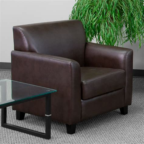 flash furniture bt   bn gg hercules diplomat brown leather chair  wooden feet