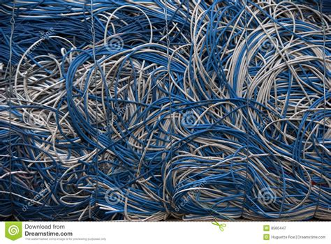 cables blue white royalty free stock photography image