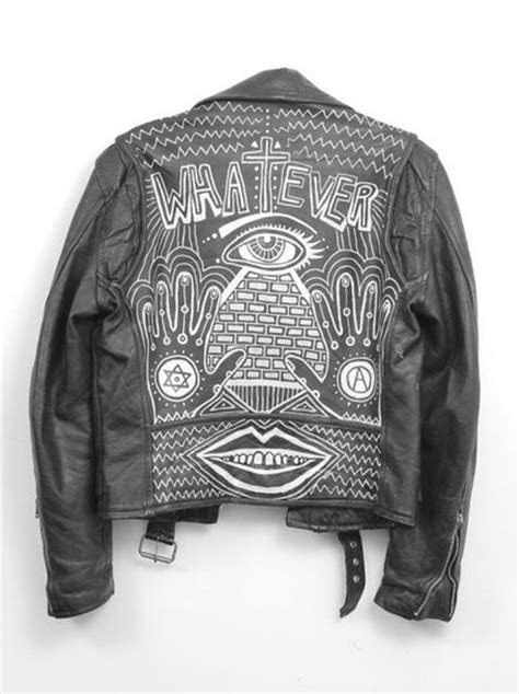 illuminati jacket jacket black whatever illuminati black jacket leather
