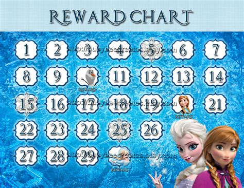 printable frozen sticker chart personalized disney princess frozen reward chart custom