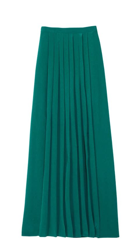 silk pleated maxi skirt official site