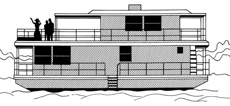 houseboat outline file houseboat psf png wikimedia commons
