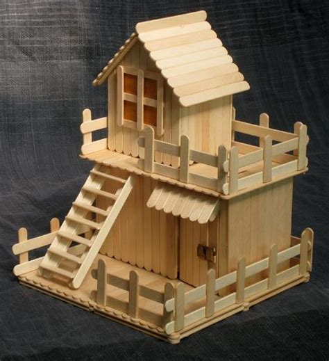 Popsicle Stick Money Box A Great Project For Teaching Popsicle House Plans