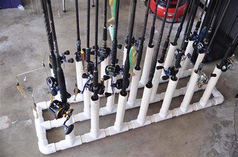 diy fishing rod holder diy rod racks for the garage