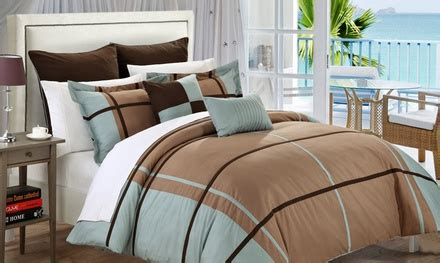 groupon comforter 11 piece comforter set groupon goods