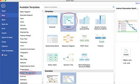 graph drawing software mac create gantt chart on mac