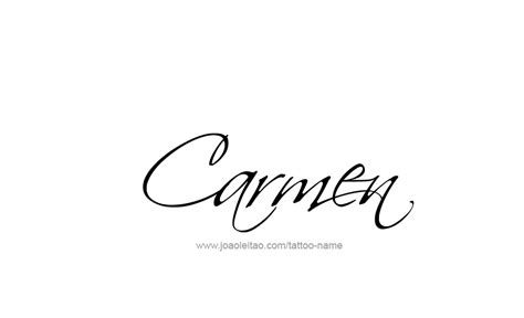 carmen name tattoo designs