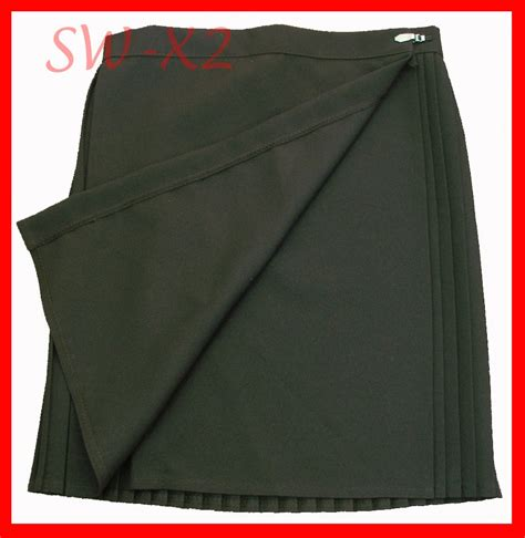black pleated sport pe netball skirt medium bnip ebay