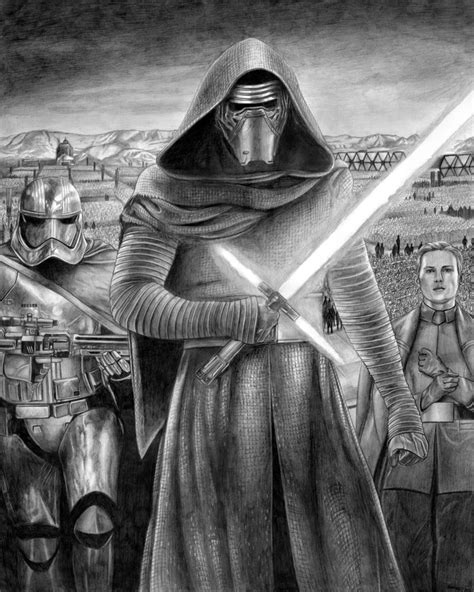 kylo ren and the first order stormtroopers coloring page learn how to draw kylo rens lightsaber from star wars