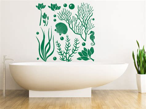 sea life home decor wall decals sea ocean marine life seaweed decal by vinyldecals2u