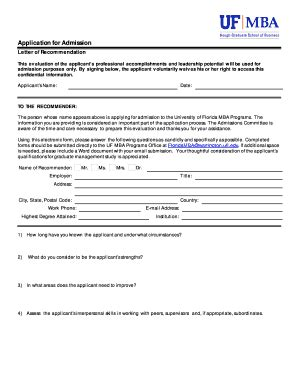 Uf Mba Application Deadline fillable floridamba ufl application for admission