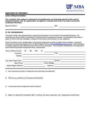 Uf Mba Deadline fillable floridamba ufl application for admission