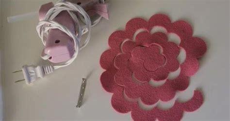 kerajinan tangan  membuat bros bunga  kain flanel