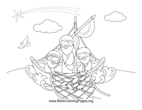 jesus with fishermen coloring page