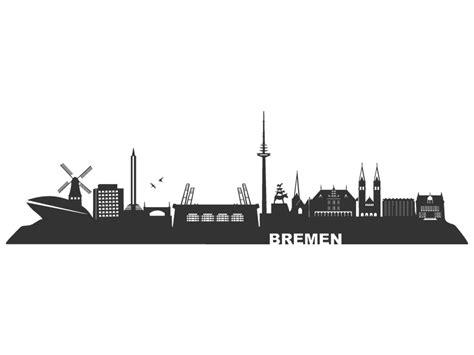 Werder Aufkleber Gold by Wandtattoo Skyline Bremen Wandtattoos De