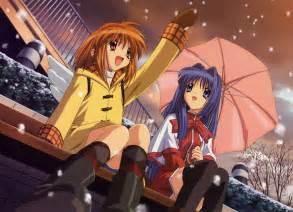 best live anime girl delight snow umbrella walking best live wallpaper