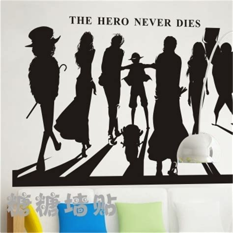 whole wall stickers japanese vinyl wall decal anime one