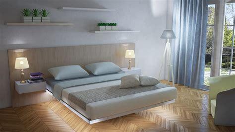 letto con comodini integrati letto austero forma pulita e leggera comodini integrati