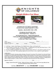 car form template car show registration form 2 free templates in pdf word