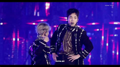exo run this 4k 171225 가요대전 exo run this xiumin 런디스 시우민 focus youtube