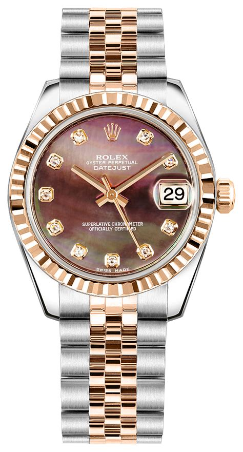 Rolex Oyster Silver Rosegold 178271 rolex datejust womens watches