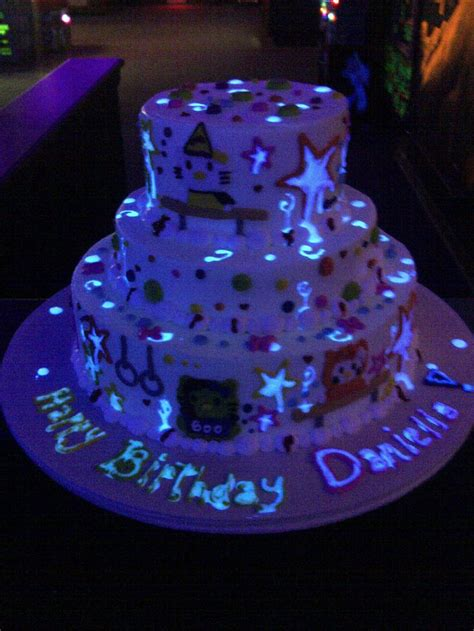 makery  denvers source  glow   dark birthday cakes neon glow   dark