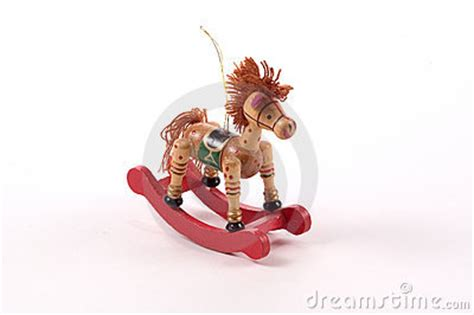 rocking horse tree ornament stock image image 23111