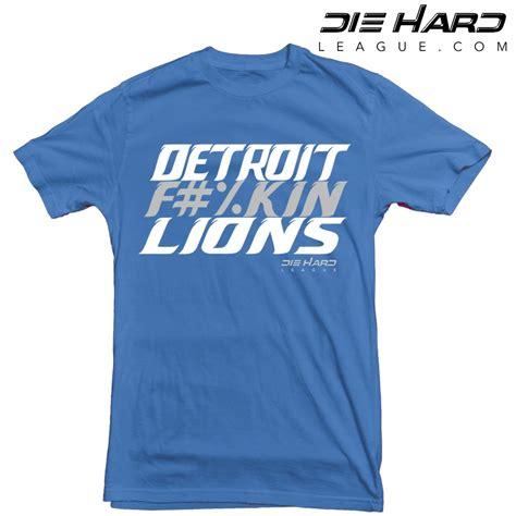 T Shirt Detroid detroit lions t shirt detroit fn lions blue nfl