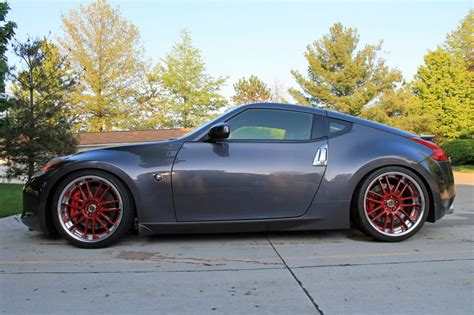 nissan 370z custom rims nissan 370z custom wheels volk racing gt 30 red 20x9 5 et