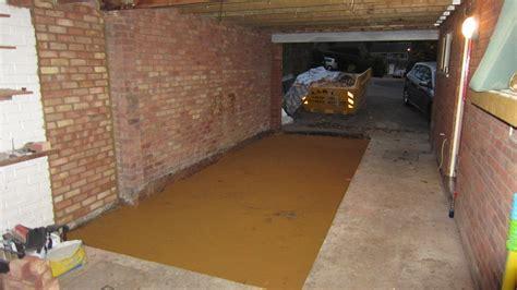 garage floor level concrete screed garages sheds