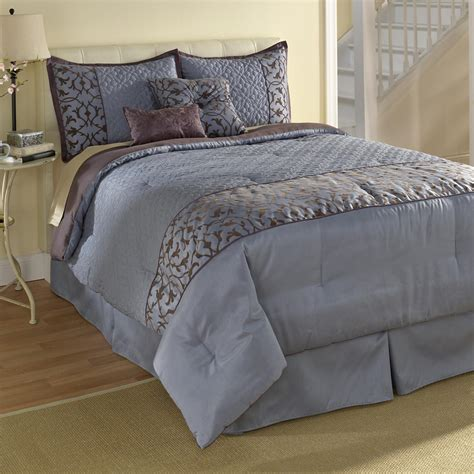 jaclyn smith blue scroll comforter set home bed bath