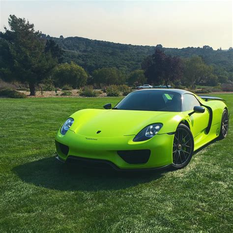 porsche 918 acid green salomondrin s acid green porsche 918 with weissach package
