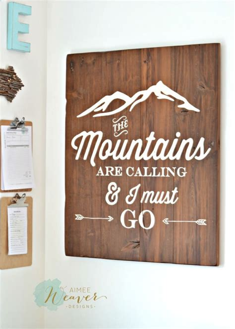 Skyrim Sign Wood Pallet the mountains are calling and i must go wood sign by aimee weaver designs aimee weaver