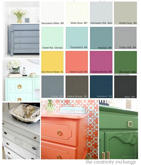 paint colors 16 of the best paint colors for painting furniture