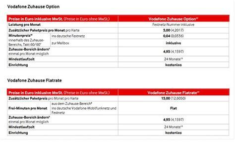 vodafone zuhause option handyvertrag mit festnetznummer homezone handytarife