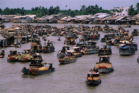 floating boat market vietnam southern motorbike package vietlong travel