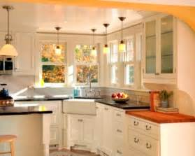 marvelous Aerin Lauder Furniture #5: catchy-white-kitchen-set-with-farmhouse-corner-sink-plus-glass-cabinet-also-decorative-pendant-lamps.jpg